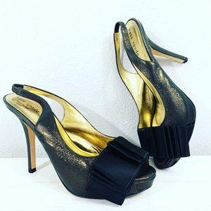 Kate Spade Satin Glitter Slingback Pumps size 5.5